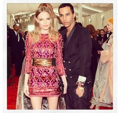 Kate Bosworth & Olivier Rousteing Ceinture Balmain