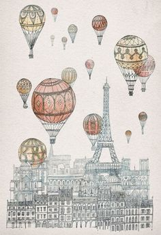 Ilustración de David Fleck, Invisible Cities.