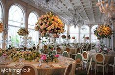 addobbi e decorazioni floreali per il ricevimento del matrimonio - Hotel Excelsior Lido di Venezia - Location matrimoni Venezia (VE)