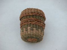 Hand Woven Cedar and Iris Leaf Thimble by PeggieWilcoxBaskets, $130.00