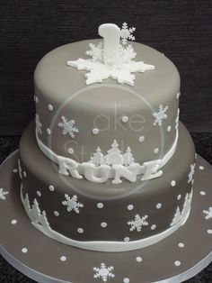 x2 - Silver grey base with white cutouts - first birthday - relly sweet.