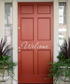'Welcome' Wall Decal