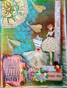 #52craftyprojects 35/52 - Burlap Layout