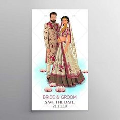 Illustrated couple Invitation Any Design Wishes and customized Illistration, Contact us.