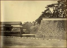 Edo Castle's Sakurada Gate – photographed by Felix Beato, Japanese History, Samurai, Gate, Painting, Outdoor, Outdoors, Portal, Painting Art, Paintings