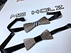 Classic Wooden bowties