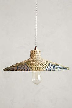 Loa Rattan Pendant Lamp - anthropologie.com