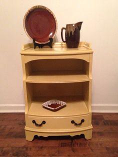 Antique Mahogany Veneer Pair of Large Nightstands- veneer was missing in places- removed, sanded, painted, flipped-