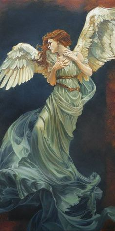 Kai Fine Art is an art website, shows painting and illustration works all over the world. Angels Among Us, Angels And Demons, Angels And Fairies, Fantasy Kunst, Fantasy Art, Archangel Jophiel, I Believe In Angels, Ange Demon, Angel Pictures