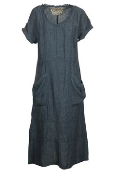 Hammock & Vine Washed X-Dye Linen Dress. my kind of dress.