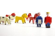 dieren en mensen van de boerderij, design Kay Bojesen
