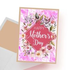 Printable Happy Mother's Day card Happy Mother S Day, Happy Mothers, Printables, Cards, Print Templates, Maps, Playing Cards