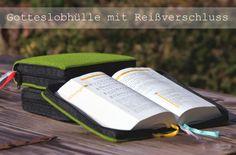 Anleitung: Bücherhülle (Gotteslobhülle) mit umlaufenden Reißverschluss