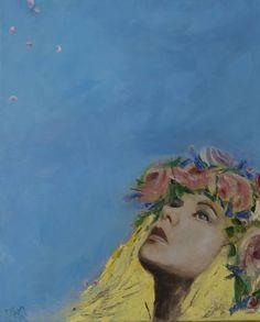 """Saatchi Art Artist Mei Yee Lam; Painting, """"Lavender and Roses"""" #art"""