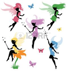 45606646-collections-of-vector-silhouettes-of-a-fairy.jpg 425×450 pixels