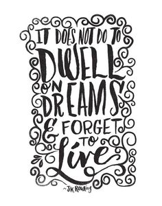 DWELL ON DREAMS By Matthew Taylor Wilson Motivationmonday Print Inspirational Black White Poster Motivational Quote Inspiring
