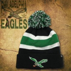 Show love for the Philadelphia Eagles this winter with a throwback  Philadelphia Eagles knit pom beanie 3add6be23