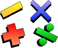 Image result for four operation symbols