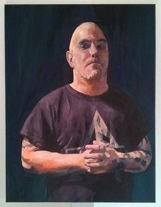 'Matt in Arkham T-shirt' by Dr. Mata Haggis, 2013. Oil on Canvas. 60x80cm