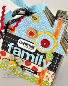 Beuatiful house-shaped scrapbook album. | Craft Ideas | Pinterest ...