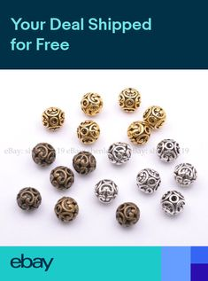 925 Silver Handmade Beads Jewelry Making Jewelry Findings Jewelry Component Wholesale Gold Vermeil Beads 12 MM Beads DIY Beads
