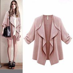 Plus size Jacket Women Fashion Jackets Jacket female coat Women s Open  stitch Outwear Autumn New befree a8fa08fba2f8