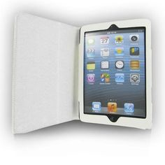 New White Leather Case for Apple iPad mini high quality PU leather  #UnbrandedGeneric  ONLY 11.99