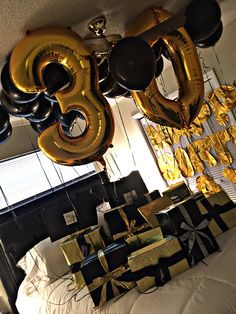 Delightful 20 Brainy Golden Birthday Gift Ideas for Him Arts Pictures, 30 Gifts. - Delightful 20 Brainy Golden Birthday Gift Ideas for Him Arts Pictures, 30 Gifts for my husband - Husband 30th Birthday, Surprise 30th Birthday, Birthday Surprise Boyfriend, 30th Birthday Parties, Man Birthday, Birthday Ideas For Husband, Birthday Suprises For Boyfriend, 30 Birthday Balloons, 40th Birthday Ideas For Men Husband
