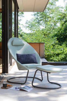 Outdoor Garden Furniture, Outdoor Chairs, Outdoor Decor, Cocoon, Home Decor, Gardens, Galvanized Steel, Toile, Decoration Home