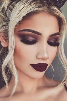 28 Super Sexy Looks und Make-up-Tipps zum Valentinstag - - 28 Super Sexy Looks And Makeup Tips For Valentines Day un maquillaje Makeup Goals, Makeup Inspo, Makeup Trends, Makeup Inspiration, Beauty Makeup, Hair Beauty, Makeup Ideas, Makeup Style, Makeup Tutorials