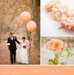 peach colored wedding