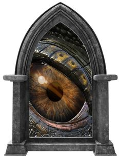 CastleScape Dragons Eye 1 Wall Decal Fire by StickitGraphixllc