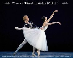 "❥Natalia Osipova partnered by David Hallberg in ""Giselle"" at ABT's opening-night Gala 2010, (by Gene Schiavone ©) https://www.facebook.com/groups/W.W.Ballet/"