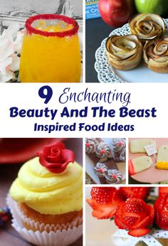 These Beauty and The Beast Inspired food ideas are perfect for kids, but also fun for parties for an adult too! Belle would be utterly enchanted by these simple recipes and dishes.