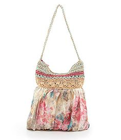 Blue Miami Rose Print Hobo Bag #Dillards