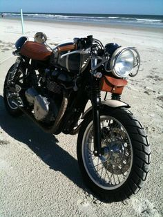Triumph, I someday hope to own a bike like this. I love the style.