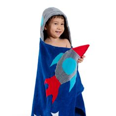 Love this Blue Space Hero Hooded Towel - Toddler & Kids by Kidorable on Space Hero, Blue Space, Baby Shower Fun, Kids Corner, Rain Wear, Summer Kids, Toddler Fashion, Kids Fashion, Cotton Towels