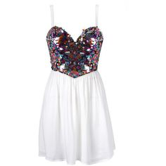 MULTI SEQUIN PROM DRESS ($30) ❤ liked on Polyvore featuring dresses, vestidos, robes, short dresses, sequin prom dresses, sequin cocktail dresses, prom dresses and cocktail prom dress