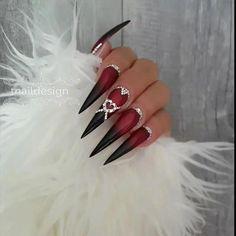 Nail art Christmas - the festive spirit on the nails. Over 70 creative ideas and tutorials - My Nails Crazy Nails, Fancy Nails, Love Nails, My Nails, Swag Nails, Stiletto Nail Art, Acrylic Nails, Gorgeous Nails, Pretty Nails