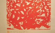 Naoko Matsubara Evening Sunlight, 2014, Woodcut print, Edition of 15, Image 11.75 x 16.5 inches, 30 x 42 cm