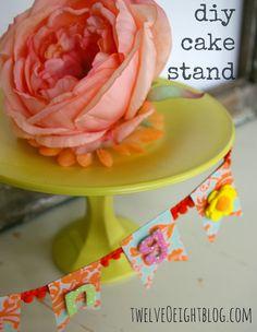 DIY Cake Stands - dollar store crafts