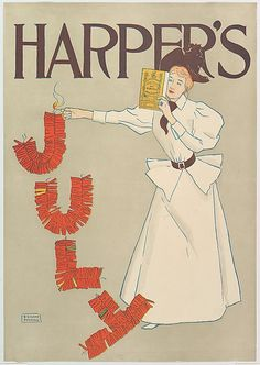 Edward Penfield (American, 1866–1925). HARPER'S / JULY, 1894. The Metropolitan Museum of Art, New York. Leonard A. Lauder Collection of American Posters, Gift of Leonard A. Lauder, 1984 (1984.1202.75). #july