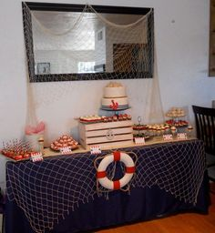 Nautical Theme Dessert table  By: Le Petite Chef. Maybe something like this but much more classy.