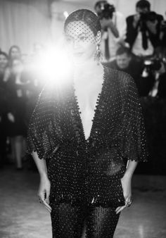 """Beyonce Knowles Photos Photos - Image was converted to black and white) Beyonce attends the """"Charles James: Beyond Fashion"""" Costume Institute Gala at the Metropolitan Museum of Art on May 5, 2014 in New York City. - Alternative Views at the Met Gala"""