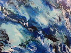 #acrylic #fluid #abstract #artwork 120cm x 90cm by #artist Glenn Farquhar