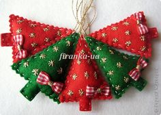 Sew Felt toys on the Christmas tree - sewing