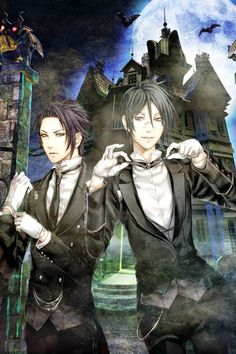 Black Butler- Sebastian and Claude, I see what you did there lol-when you see it<<it's killing me