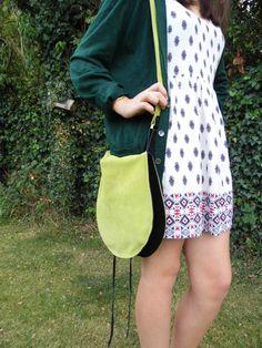 Vintage Suede Bag REVERSIBLE by mahinaart on Etsy, £4.00
