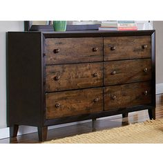TRIBECCA HOME Draven Espresso Drifted Oak 6-drawer Dresser - Overstock™ Shopping - Great Deals on Tribecca Home Dressers