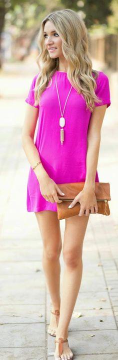 Shift Pink Inspiration Dress